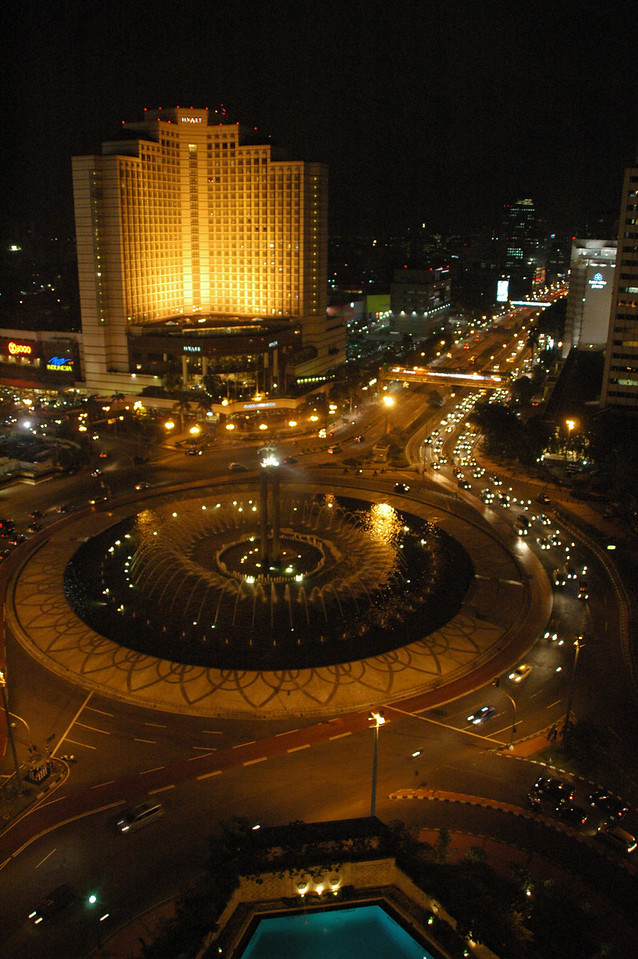 Night view from Mandarin Hotel looking north