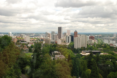 Portland Aerial Tram - views of Portland