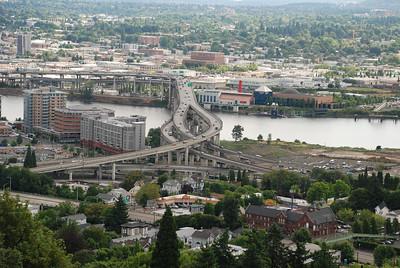Portland Aerial Tram - bridges
