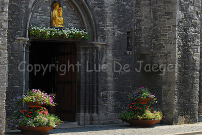 The entrance to the Church of Our Lady (Onze-Lieve-Vrouwekerk) in Courtrai (Kortrijk), Belgium.