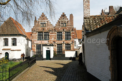 The old Beguinage (Begijnhof) in Courtrai (Kortrijk), Belgium. The beguinage is another World heritage site.