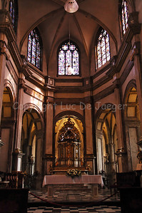 The interior of the Church of Our Lady (Onze-Lieve-Vrouwekerk) in Courtrai (Kortrijk), Belgium.