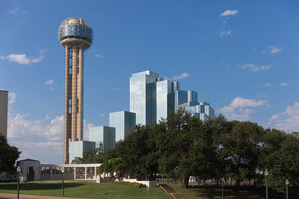 Reunion Tower at Dealey Plaza