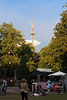 The Golden Tower at Tivoli Gardens amusement park, Copenhagen, Denmark