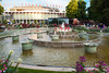 The Garden and Fountain area in front of the Concert Hall at Tivoli Gardens amusement park, Copenhagen, Denmark