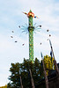 The Star Flyer, 262 foot (80m) high swing carousel in the Danish amusement park, Tivoli Gardens, Copenhagen, Denmark