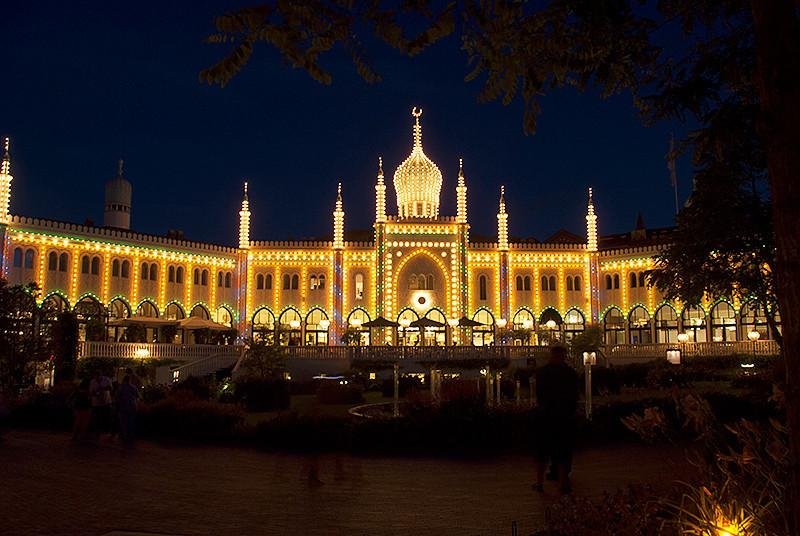 Nimb Hotel at Tivoli Gardens amusement park, Copenhagen, Denmark