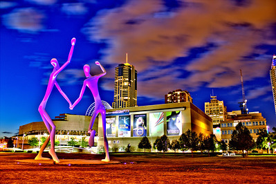 "Dancing outside the ""Complex"" in downtown Denver."