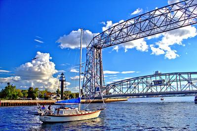 "The ""Whisper"" Heading For the Duluth/Superior Bridge"