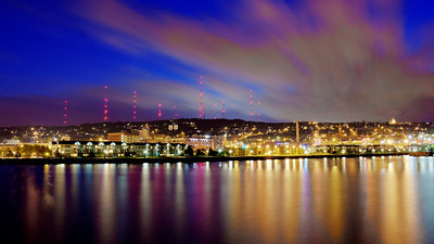Duluth at Sunset from the Lighthouse - 7.10.13