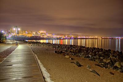 Duluth Boardwalk at Night