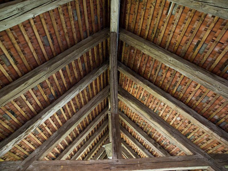 Chenaux Castle parapet roof, Estavayer-le-Lac Olympus<br /> E-420, 12-60mm f2.8-4.0