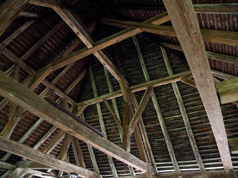 Wooden beams, Estavayer-le-Lac<br /> Olympus E-420, 12-60mm f2.8-4.0