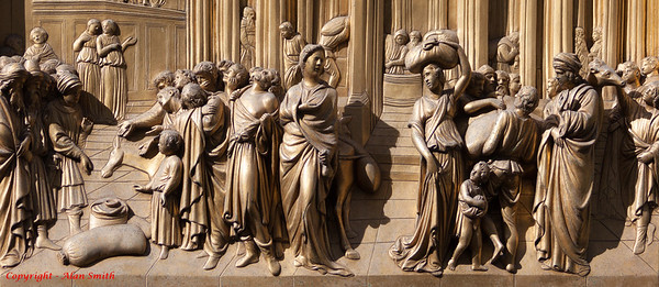 Detail from the Florence Baptistry North Door by Lorenzo Ghiberti