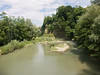 Sarine river (as seen from the Pont de la Motta, towards Pont de St. Jean)<br /> Konica Minolta Dimage A2
