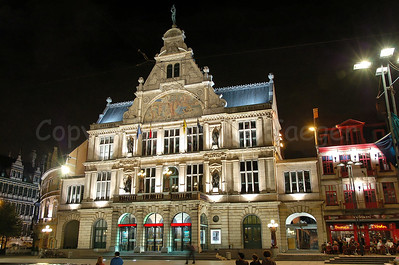 NTGent (Nederlands Toneel Gent) theatre on the St-Baafsplein in the centre of Ghent (Gent).
