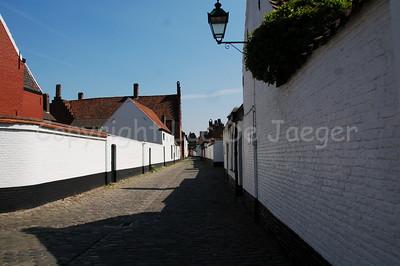 Beguinage of St Elisabeth near the Church of St Elisabeth in Ghent (Gent), Belgium.
