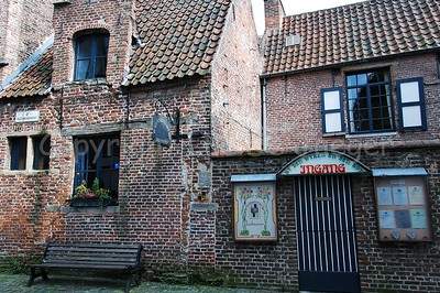 The cozy Patershol (a medieval quarter) in Ghent (Gent), Belgium: small medieval streets and little restaurants.