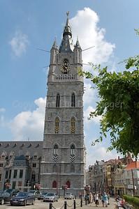 The Belfry (Belfort) in Gent (Ghent), Belgium.