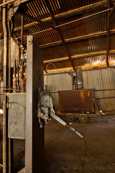 Equipment at the main shaft of the mine.<br /> Empire Mine, Grass Valley, Ca.