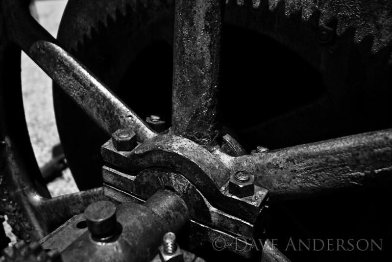 Steam winch.<br /> Empire Mine, Grass Valley, Ca.