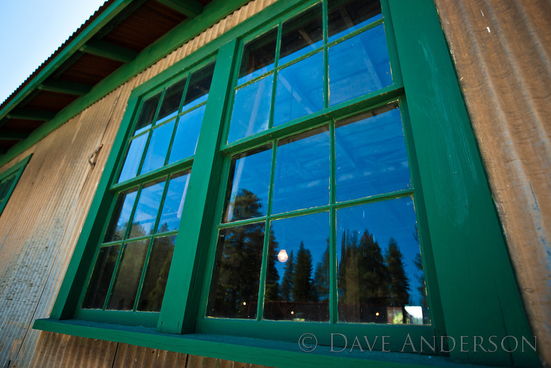 Machine shop window.<br /> Empire Mine, Grass Valley, Ca.