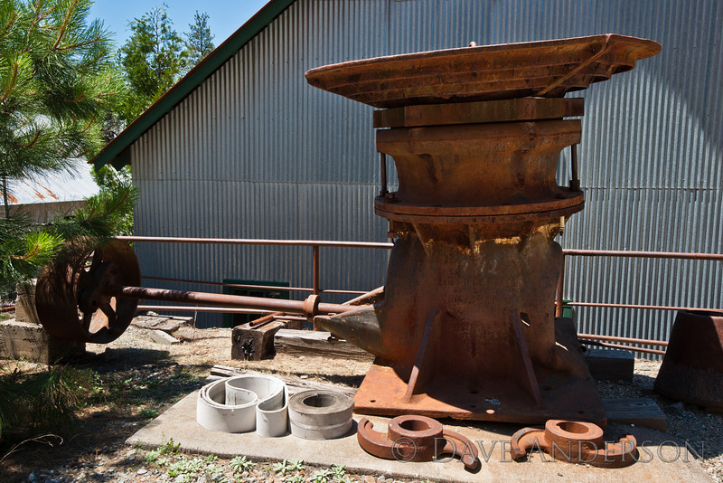 Misc. bits and pieces. This appears to be some sort of belt-driven mill, though it looks a bit like a steampunk satellite dish. :)<br /> Empire Mine, Grass Valley, Ca.