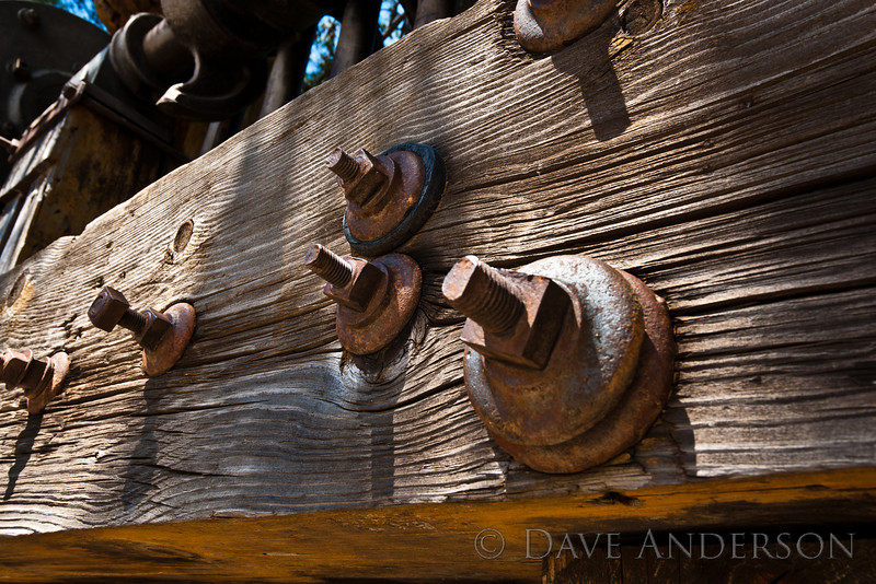 Detail from medium-size hammer mill.<br /> Empire Mine, Grass Valley, Ca.