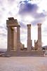 Roman temple, probably dedicated to the Emperor Diocletia at the Acropolis of Lindos, Lindos, Rhodes, Greece