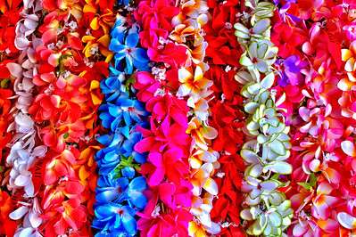 Hawaiian Leis at the farmer's market