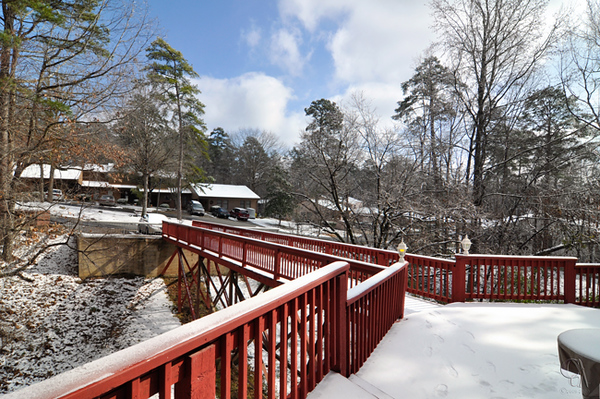 Hot Springs Village rare snow