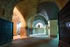 Akko Crusader Castle - Restoration work in Pillared Hall