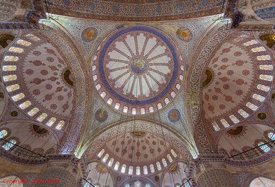 Blue Mosque Ceiling - Istanbul