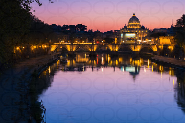 Twilight on the Tiber
