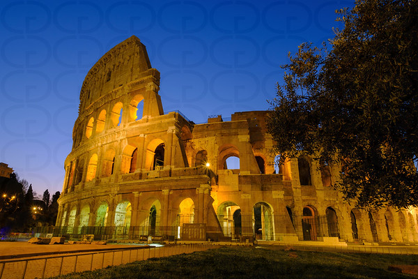 The Colosseum Before Sunrise