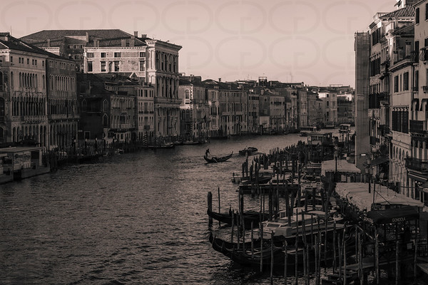 The Grand Canal in Monochrome
