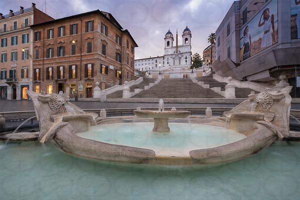 The Spanish Steps & The Fontana della Barcaccia