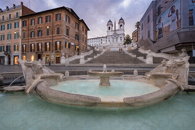 The Spanish Steps & The Fontana della Barcaccia