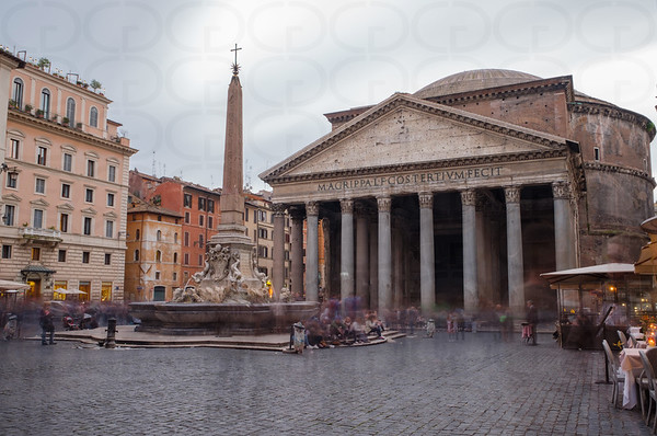 The Pantheon on a Rainy Afternoon