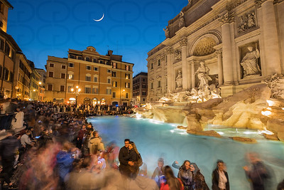 The Trevi Fountain at Moonrise