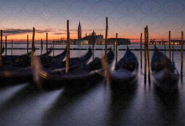 Moonset Over Venice