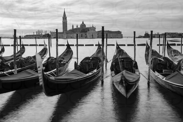 Gondolas in Monochrome