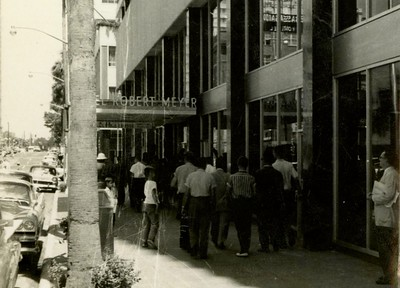 Group In Front Of Robert Myer Hotel, Downtown Jacksonville