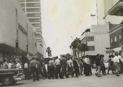 Spectators In Front of JC Penney