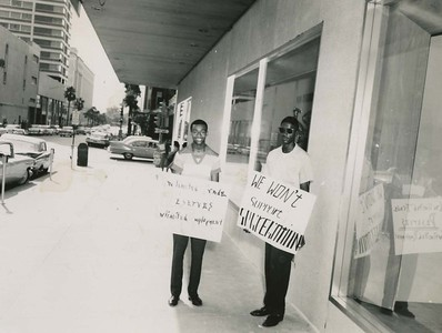 NAACP Youth Council Picketing Cohen Brothers Store