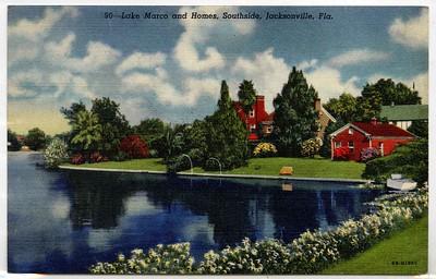 Lake Marco and Homes, Southside, Jacksonville, Fla. Circa 1940-1970