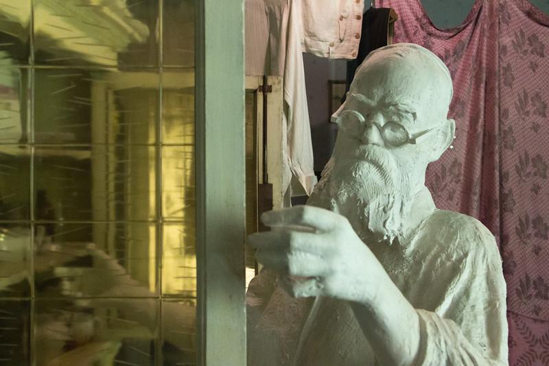 Statue in the Schindler Factory Museum exhibit