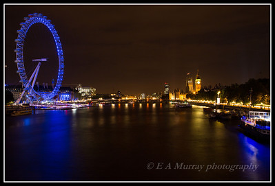 night time in london