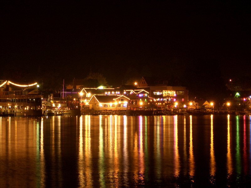 View of the dowtown waterfront of Lake George