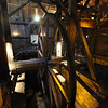 The water wheel converted to steam power at the Cornwall Iron Furnace
